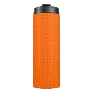 Thermische Trommel-Orange mit roten Punkten Thermosbecher