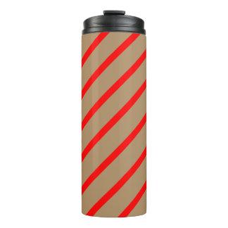 Thermisches Trommel-Gold mit roten Streifen Thermosbecher