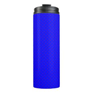 Thermisches Trommel-Königsblau mit roten Punkten Thermosbecher