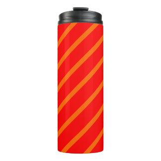 Thermisches Trommel-Rot mit orange Streifen Thermosbecher