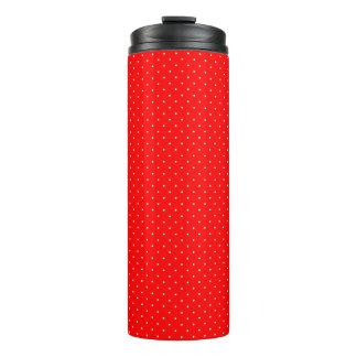 Thermisches Trommel-Rot mit weißen Punkten Thermosbecher