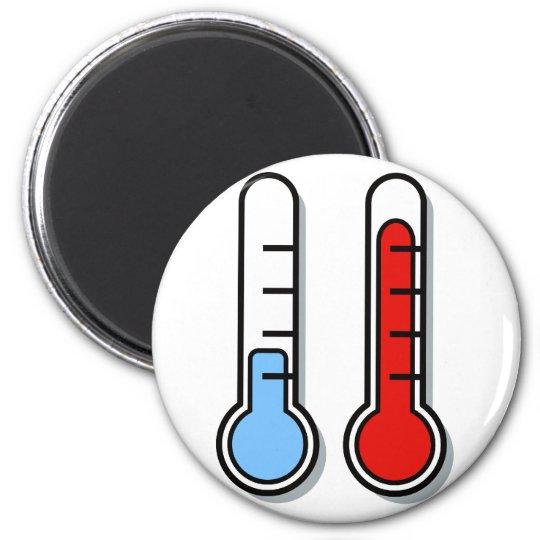 Thermometer kalt warm cold hot runder magnet 5,1 cm