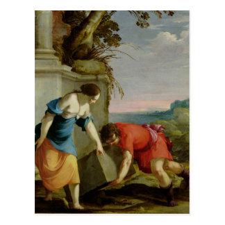 Theseus, welches die Klinge seines Vaters, 1634 Postkarte