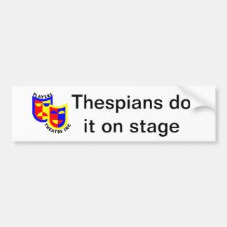 Thespians tun es auf Bühne Autoaufkleber