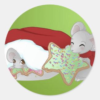 Thiefing und schüchterne Weihnachtsmäuse Aufkleber