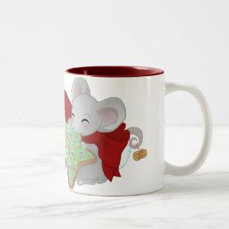 Thiefing und schüchterne Weihnachtsmäuse Zweifarbige Tasse