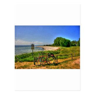 Thiessow Strand auf Ruegen Insel Postkarte