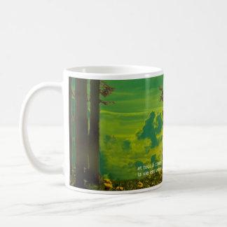 think green mug - french text kaffeetasse