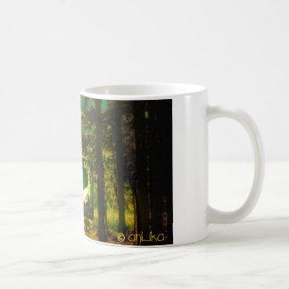 think green mug - german text kaffeetasse