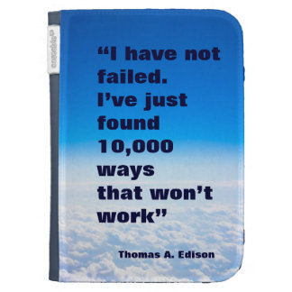 Thomas Alva Edison Zitaterfolgs-Himmelhintergrund