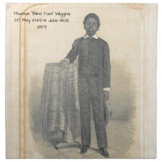 """Thomas """"blinder Tom"""" Wiggins, 1859 Serviette"""