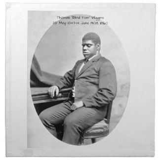 """Thomas """"blinder Tom"""" Wiggins, 1860 Serviette"""