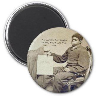 """Thomas """"blinder Tom"""" Wiggins, 1861 Runder Magnet 5,7 Cm"""