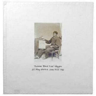 """Thomas """"blinder Tom"""" Wiggins, 1861 Stoffserviette"""