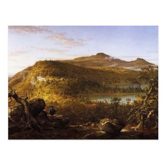 Thomas Cole-Ansicht der zwei Seen u. des Postkarten