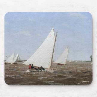 Thomas Eakins - Segelboote, die auf dem Delaware Mauspad