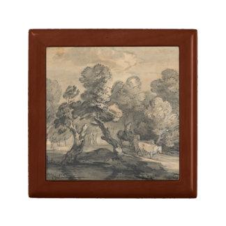 Thomas Gainsborough - bewaldete Landschaft Geschenkbox