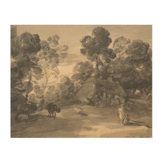 Thomas Gainsborough - bewaldete Landschaft mit Holzdruck