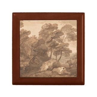 Thomas Gainsborough - Landschaft mit Kühen Geschenkbox