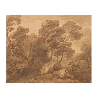 Thomas Gainsborough - Landschaft mit Kühen Holzwanddeko