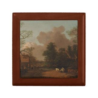 Thomas Gainsborough - Landschaft mit Milkmaid Geschenkbox