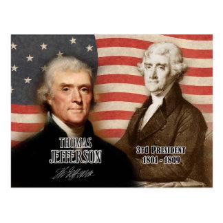 Thomas Jefferson - 3. Präsident der US Postkarte