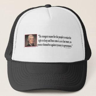 Thomas Jefferson auf Gewehr-Kontrolle Truckerkappe