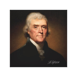 Thomas Jefferson durch Rembrandt Peale. Leinwanddruck