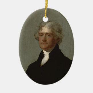Thomas Jefferson Keramik Ornament