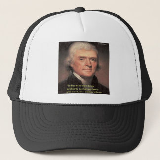 "Thomas Jefferson""Nachbar-Religions-"" Truckerkappe"