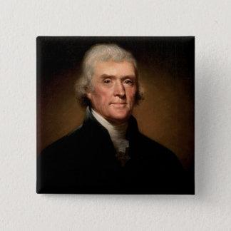Thomas Jefferson Quadratischer Button 5,1 Cm