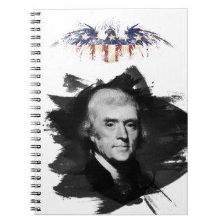 Thomas Jefferson Spiral Notizblock