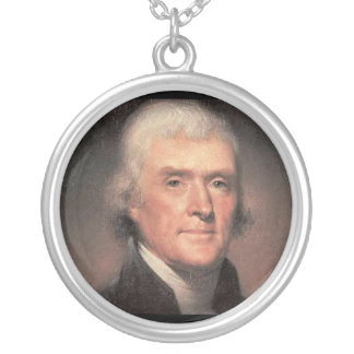 Thomas Jefferson Versilberte Kette