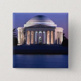 Thomas- Jeffersondenkmal an der Dämmerung Quadratischer Button 5,1 Cm