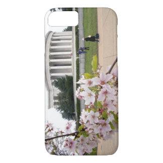 Thomas- Jeffersondenkmal mit Kirschblüten iPhone 8/7 Hülle