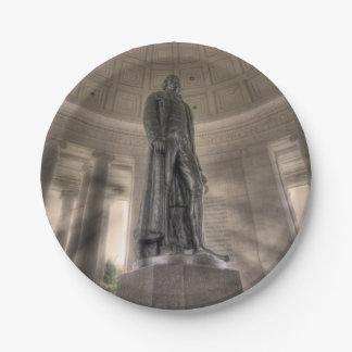 Thomas Jeffersonerinnerungsbronzestatue Pappteller