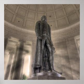 Thomas Jeffersonerinnerungsbronzestatue Poster