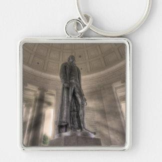 Thomas Jeffersonerinnerungsbronzestatue Schlüsselanhänger
