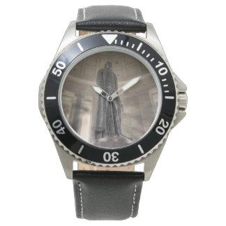Thomas Jeffersonerinnerungsbronzestatue Uhr