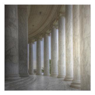 Thomas Jeffersonerinnerungskreiskolonnade Poster