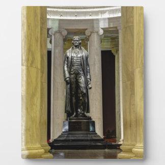 Thomas Jeffersonerinnerungsstatue nachts Fotoplatte