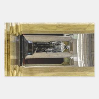 Thomas Jeffersonerinnerungsstatue nachts Rechteckiger Aufkleber
