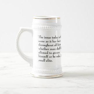 Thomas- Jeffersonfrage ist heute die selbe Bierglas