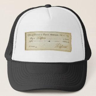 Thomas- Jeffersonunterzeichnung auf Bank-Karo 1809 Truckerkappe