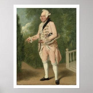 Thomas-König als Lord Ogleby (Öl auf Leinwand) Poster