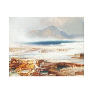 Thomas Moran - heiße Quellen des Yellowstone Leinwanddruck