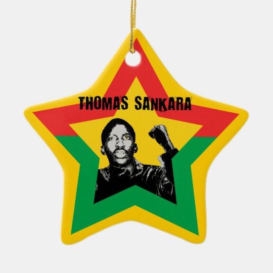 Thomas Sankara Burkina Fasso Star Xmas Ornament
