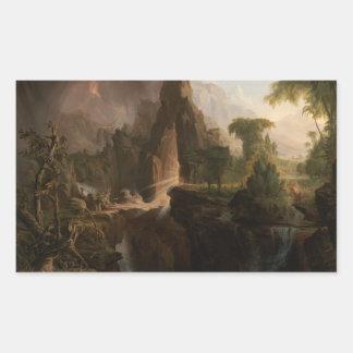 ThomasCole - Entfernung vom Garten Eden Rechteckiger Aufkleber