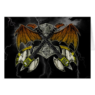 Thor-Hammer der Gott-Gitarren Grußkarte