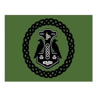 Thor-Hammer mit keltischen Knoten Postkarte